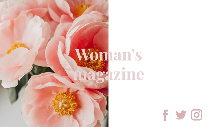 The best woman's magazine HTML Template