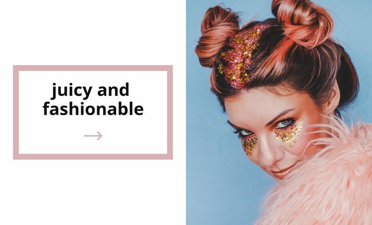 Juicy makeup Website Mockup