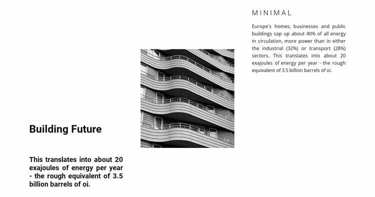 Beautiful facade Website Mockup