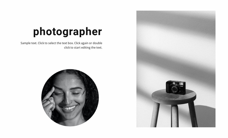 The best photographer Website Template