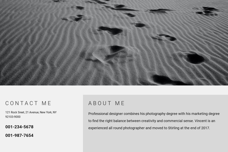 Contacts information Website Template