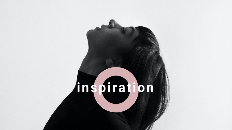 Find your inspiration One Page Template