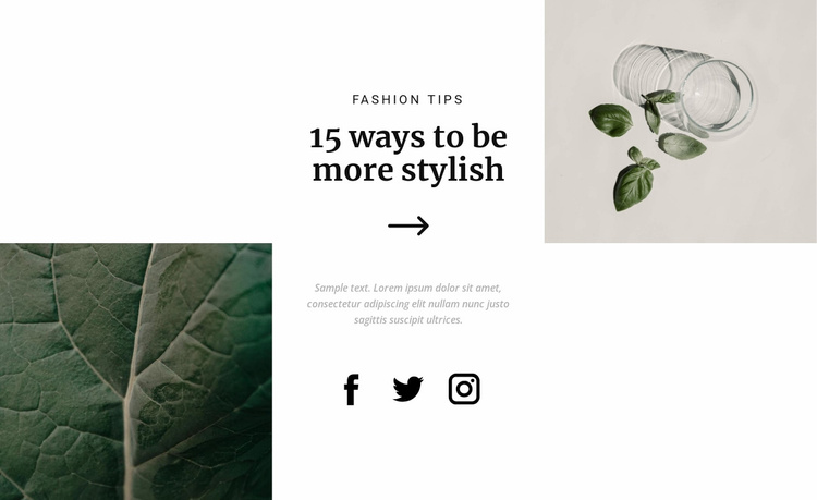How to get stylish Website Template
