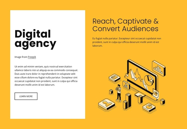 Digital marketing for growing brands HTML Template