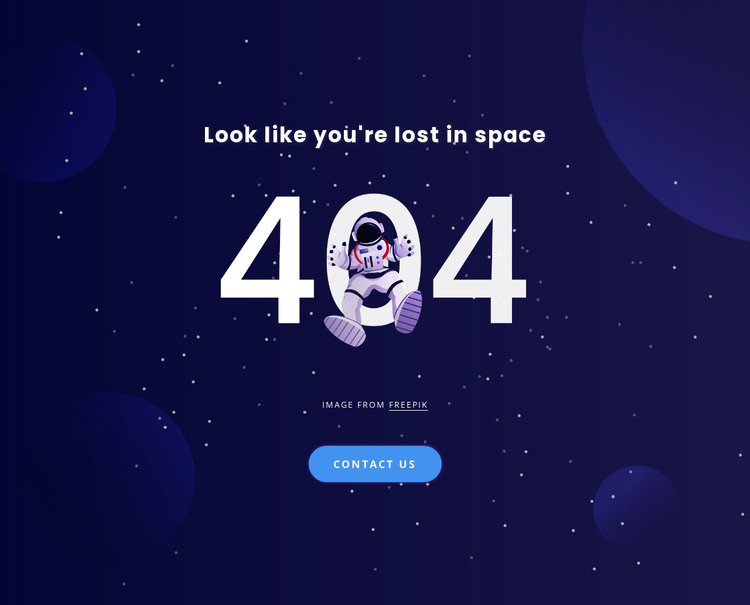 404 page HTML Template