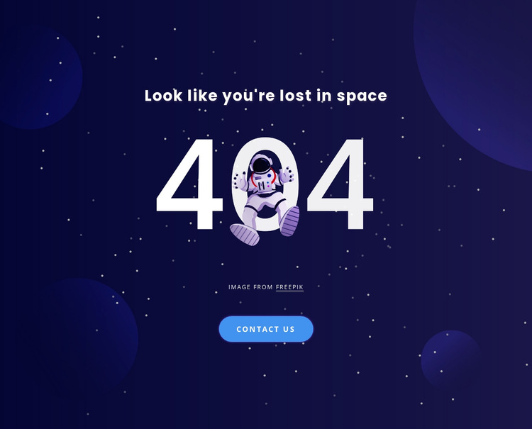 404 page HTML5 Template