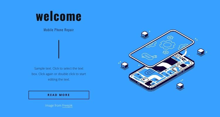 Mobile phone repair Joomla Page Builder