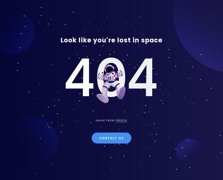 404 page Joomla Page Builder