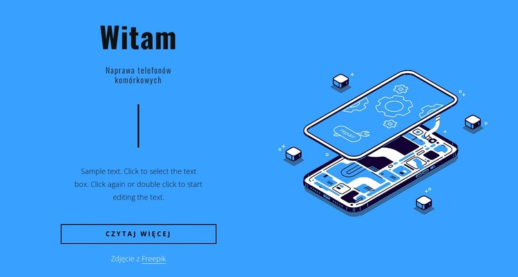 Naprawa telefonów komórkowych Szablon witryny sieci Web