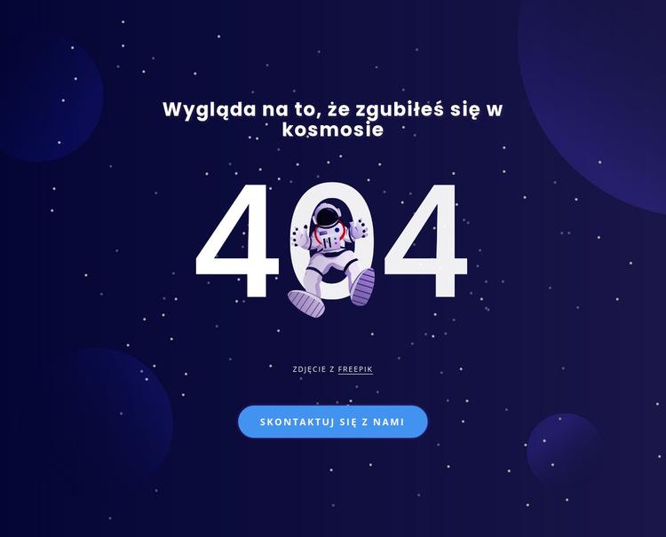 404 strona Szablon witryny sieci Web