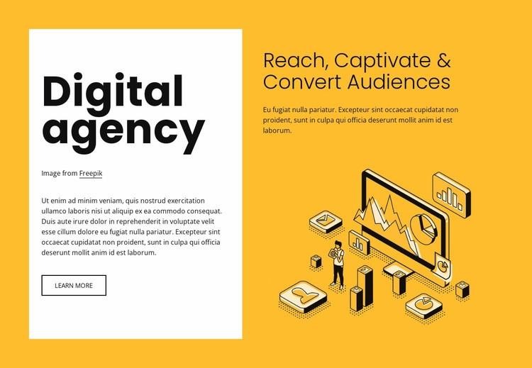 Digital marketing for growing brands Web Page Design