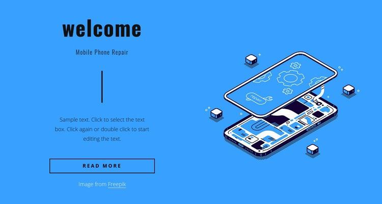 Mobile phone repair Web Page Designer