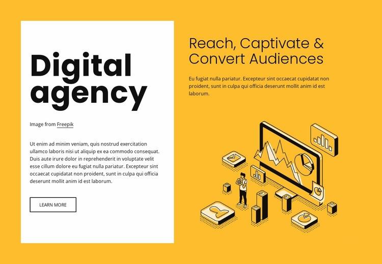 Digital marketing for growing brands Web Page Designer