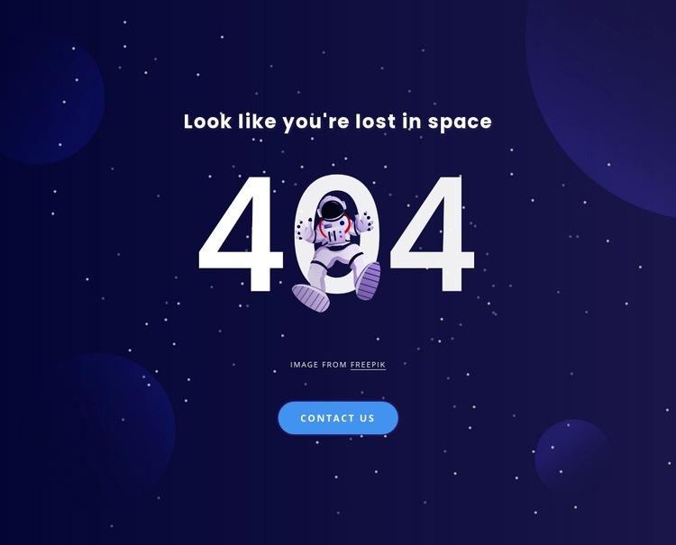404 page Web Page Designer