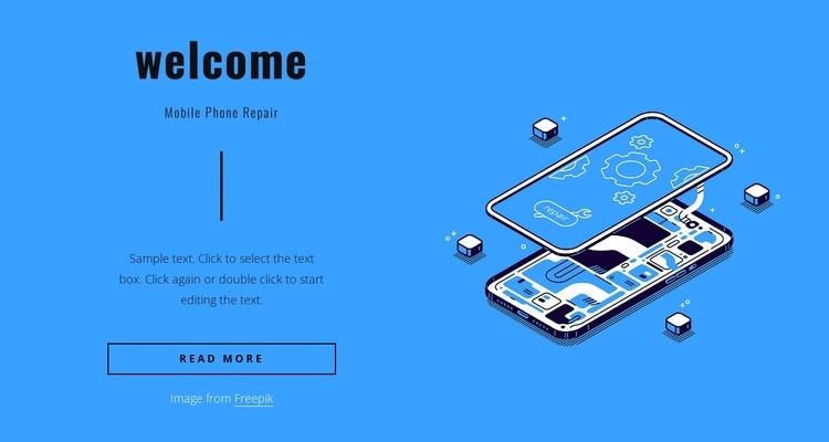 Mobile phone repair Website Builder Software