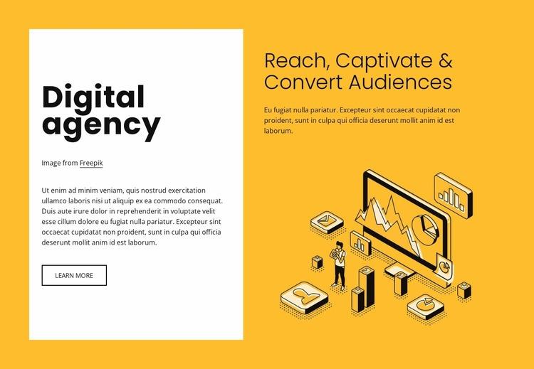 Digital marketing for growing brands Website Mockup