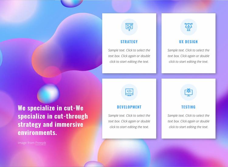 Digitally-native branding agency Website Template