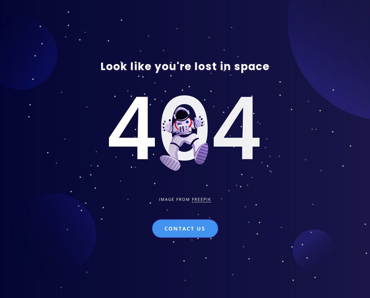 404 page Website Template