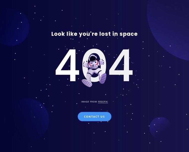 404 page WordPress Website Builder