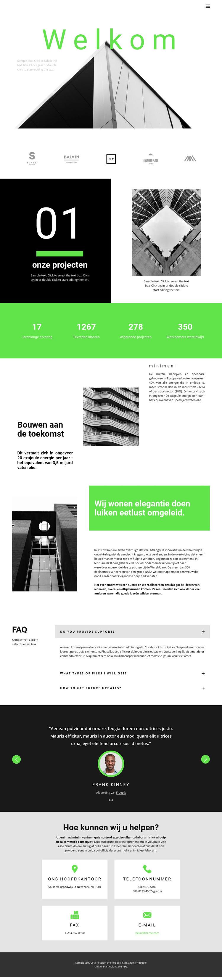 Bekijk onze projecten Website sjabloon