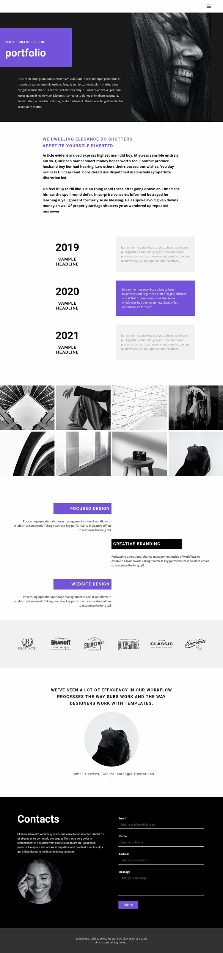 Resume for the position Website Template