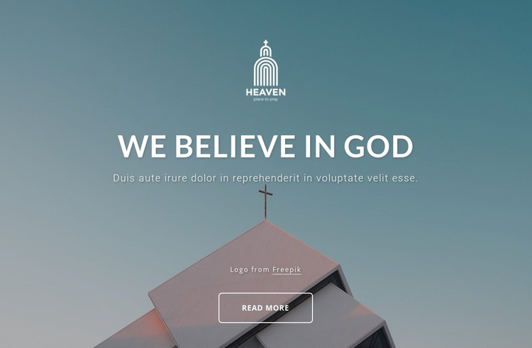 We belive in God Html Code Example