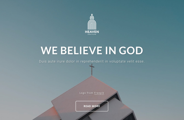 We belive in God HTML Template