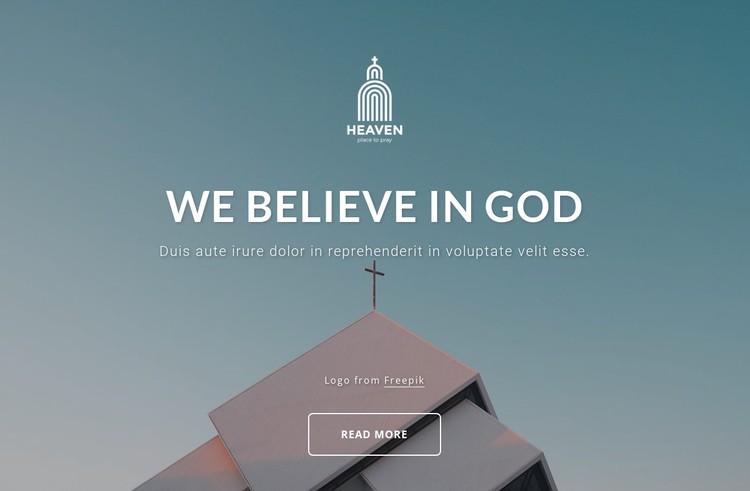 We belive in God Static Site Generator