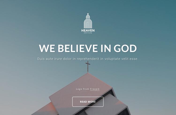 We belive in God Website Builder Software