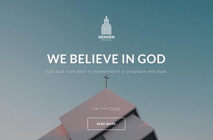 We belive in God Website Design