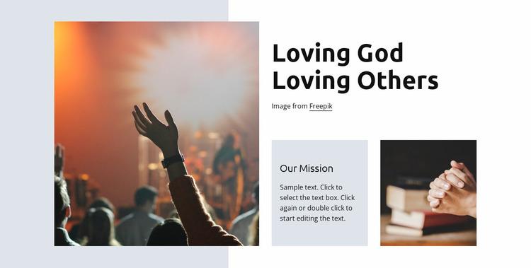 Loving god Website Mockup