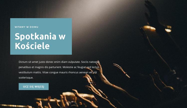 Spotkania w kościele Szablon witryny sieci Web