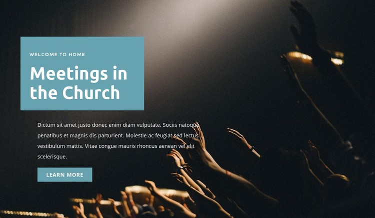 Meetings in the church Web Page Design