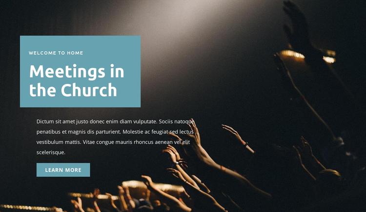 Meetings in the church Website Builder Software