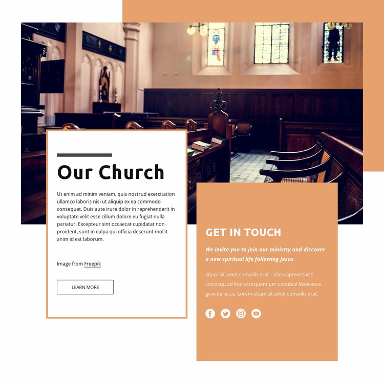 Our church Website Mockup
