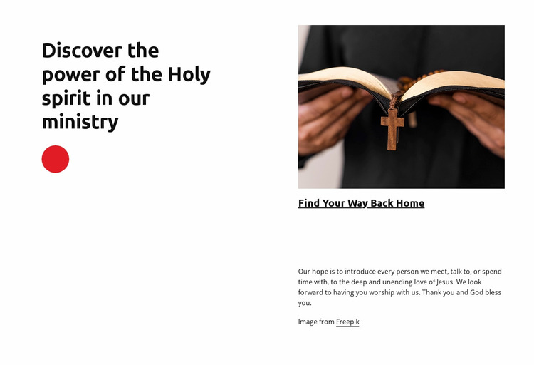 Welcome to church Website Mockup