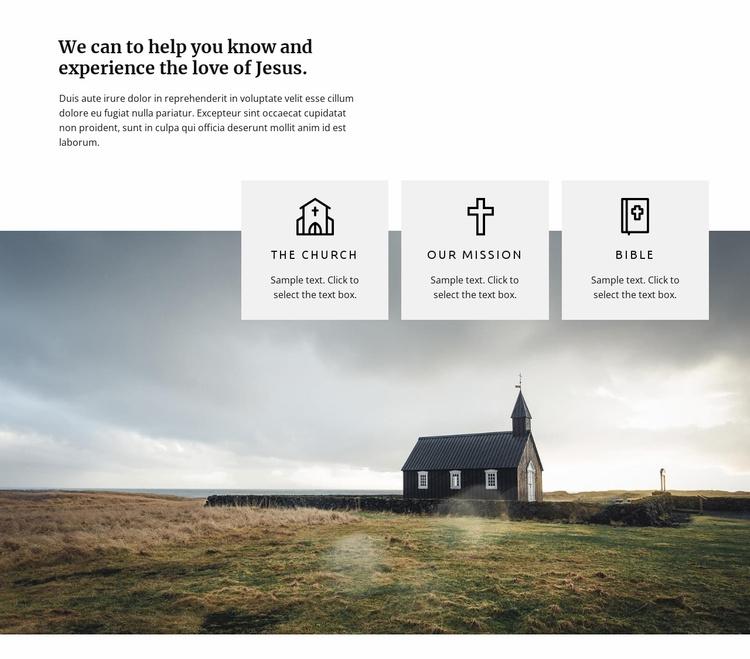 Love of Jesus Website Template