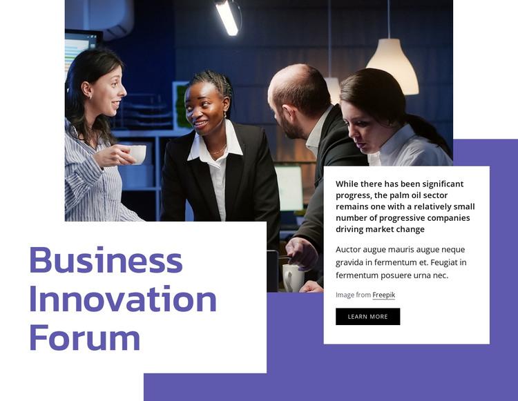 Business innovation forum HTML Template