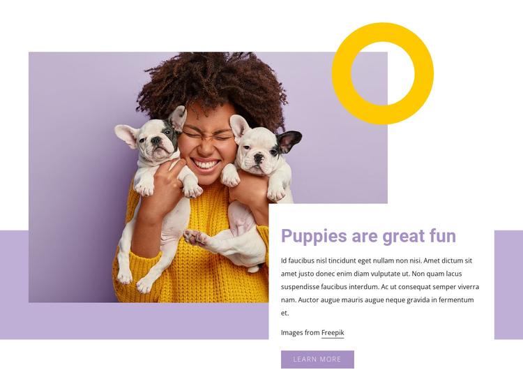 Pupples are great fun Website Builder Software