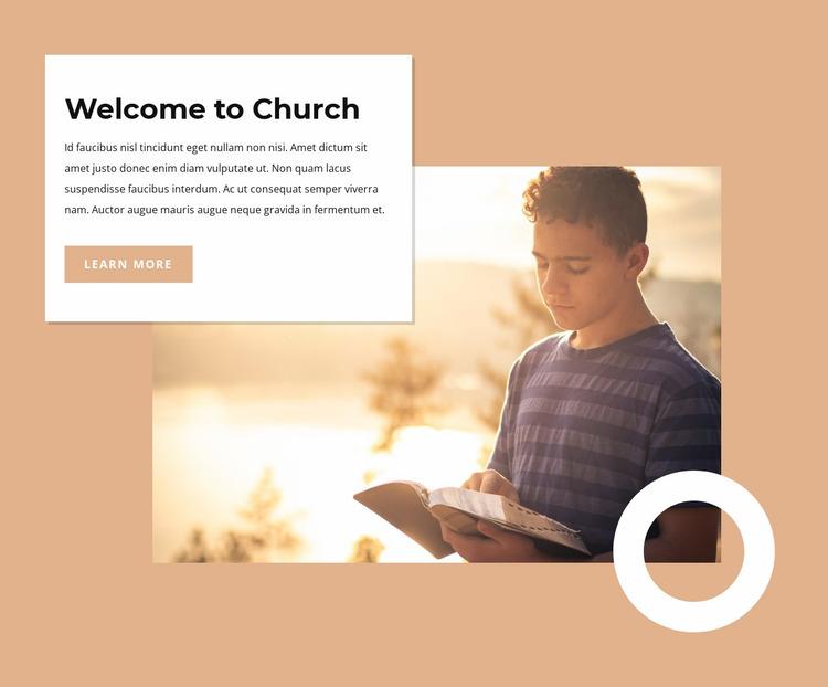 We are believers in the Lord Jesus Website Mockup