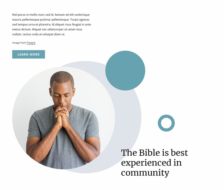 Sunday bible lessons Website Template