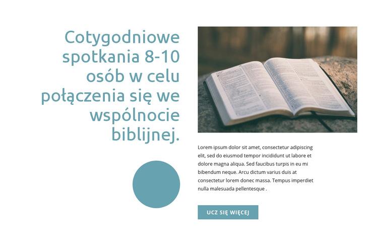 Wspólnota biblijna Szablon witryny sieci Web