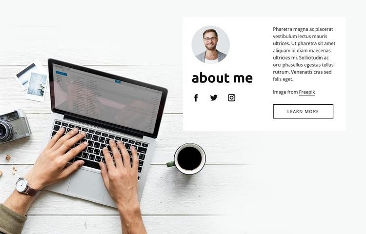 Unique photography Web Page Design