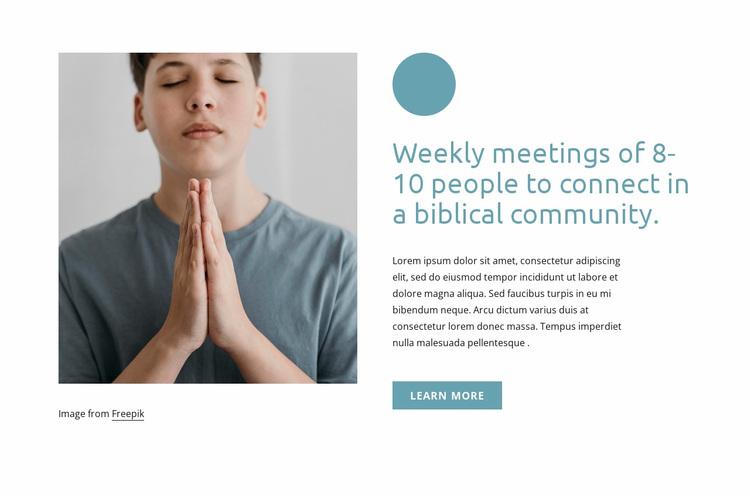 Weekly meetings Website Design
