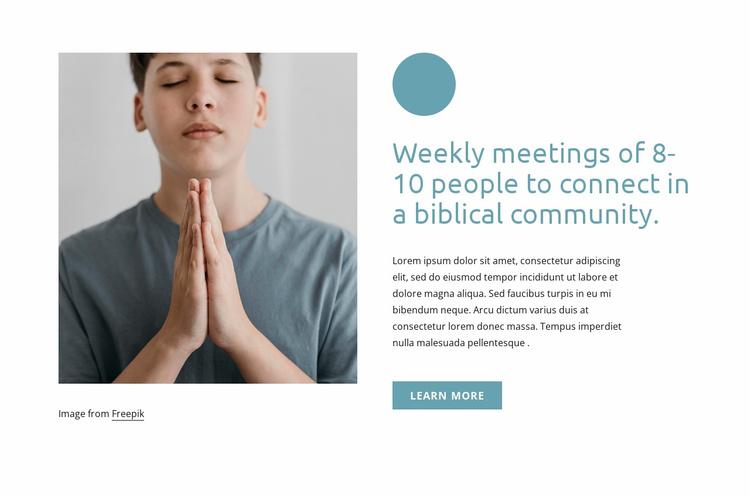 Weekly meetings Landing Page