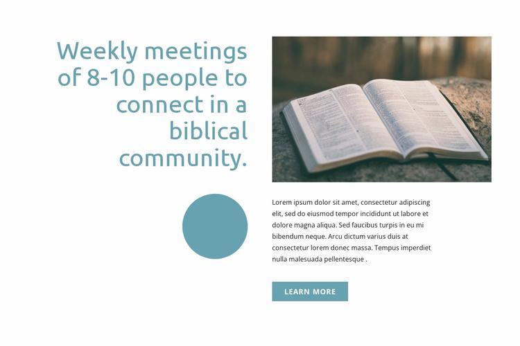 Biblical community Landing Page