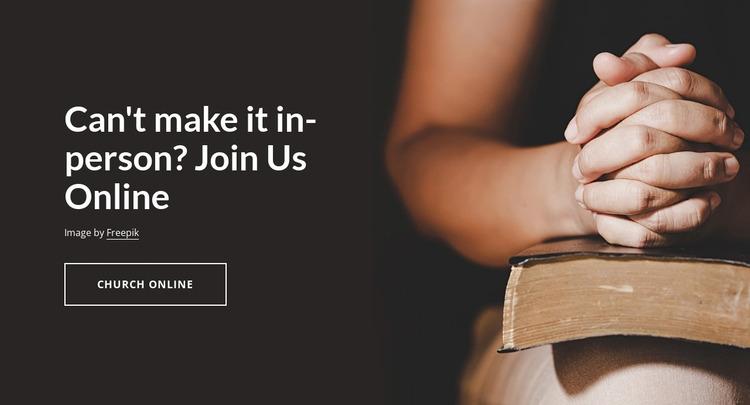 Join Us Online Website Mockup