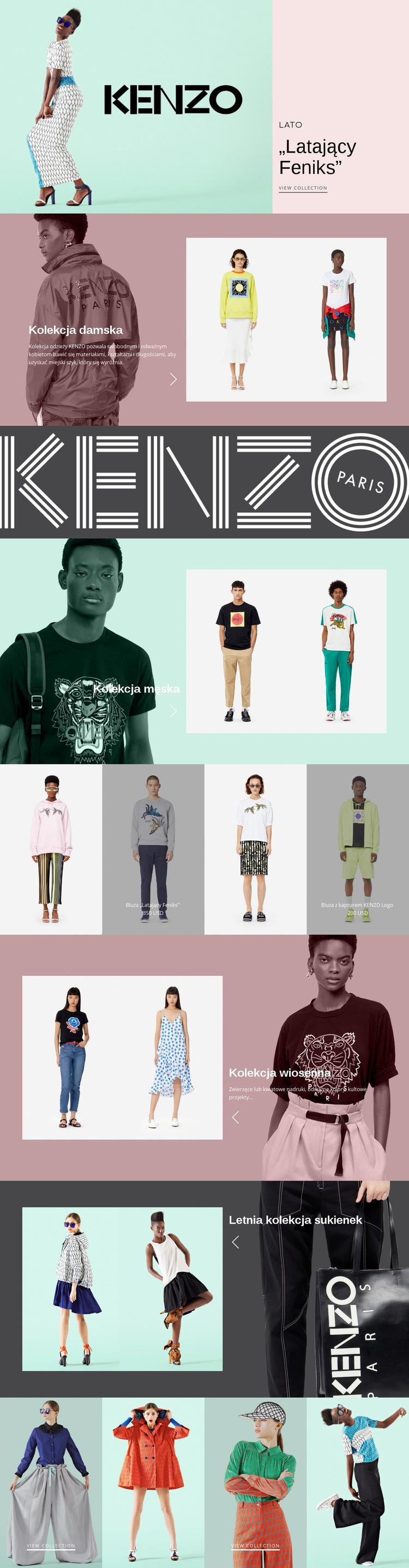 Atelier nowoczesnej mody Szablon witryny sieci Web