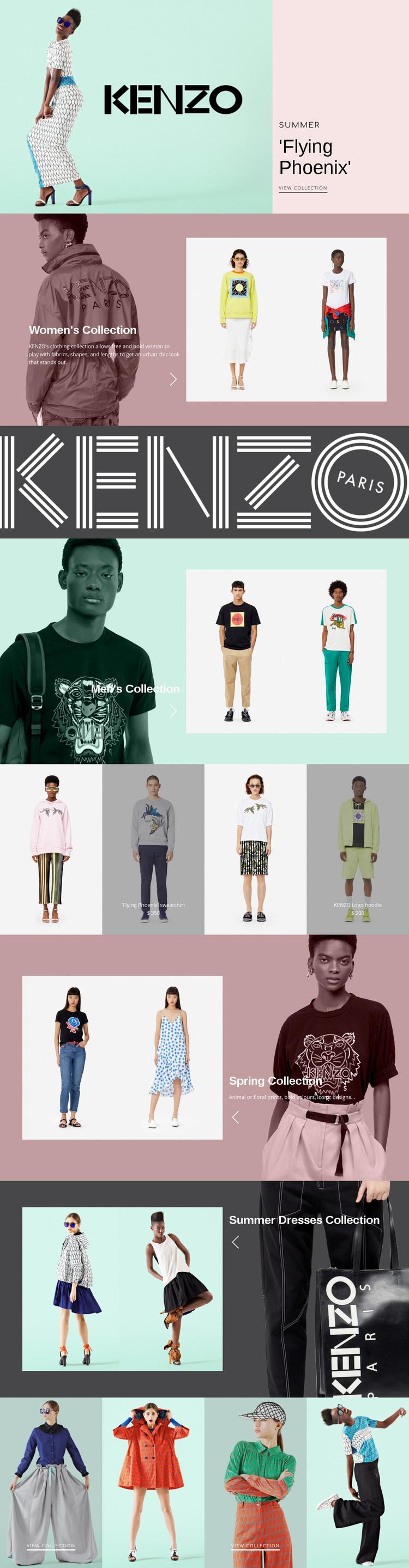 Atelier of modern fashion Web Page Designer