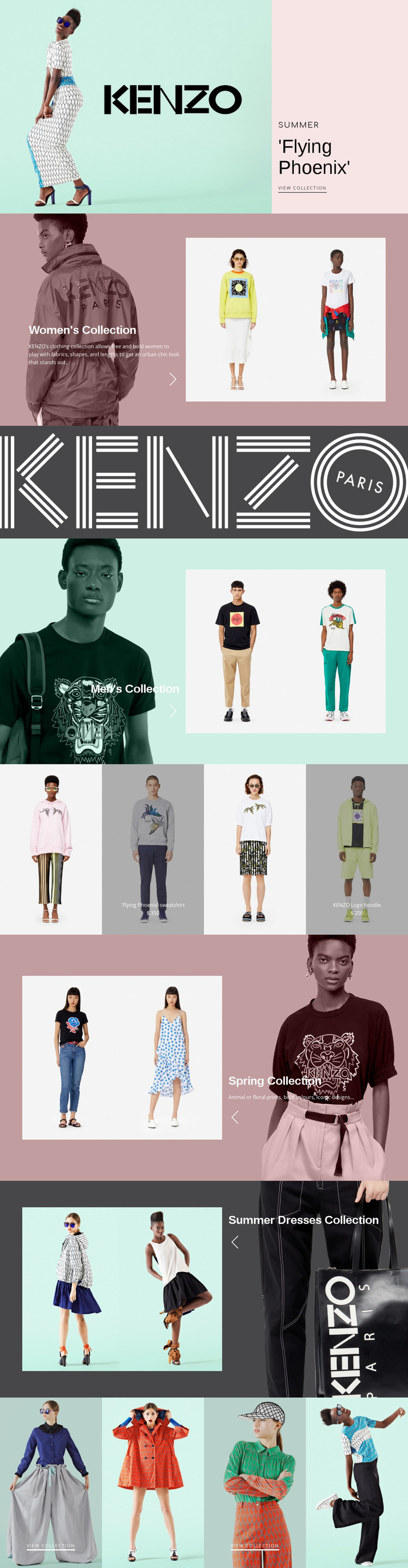 Atelier of modern fashion Website Mockup